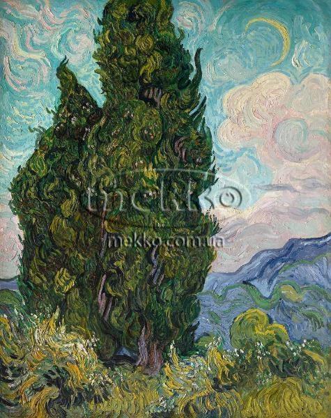 Картина Кипариси, Вінcент ван Гог